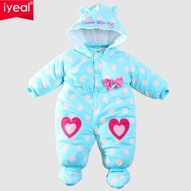 Младенцы зима ползунки хлопок - мягкий цельный новорожденный девочка тёплый комбинезон осень младенцы в ребенок восхождение одежда