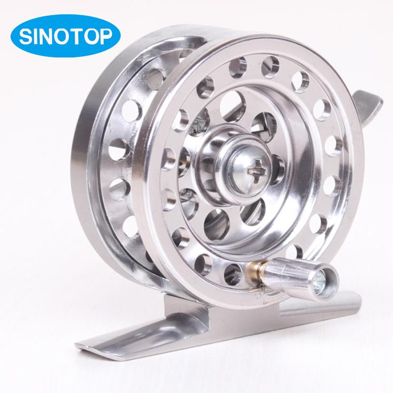 Fashion Aluminum Alloy Feeder Coil Wheel 50mm Fly Reel Left Hand River Lake Best Carp Feeder Fishing Reels Raft Fishing Gear S2(China (Mainland))