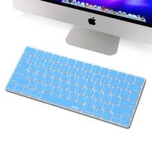 XSKN Hebrew keyboard Skin for Magic Keyboard, Isreal Hebrew Blue Silicone Keyboard Cover for Apple Wireless Magic Keyboard