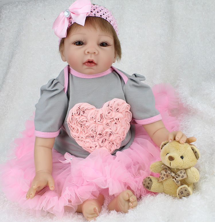 Real Toys For Girls : Quot silicone reborn baby doll toys for girl real