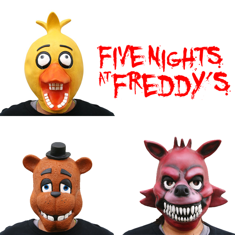 Chica foxy fazbear full latex mask good quality in party masks