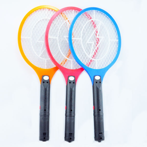 Free Shipping Battery Powered Handheld 3-Layer Net Electric Insect Bug Mosquito Zapper Fly Swatter(China (Mainland))