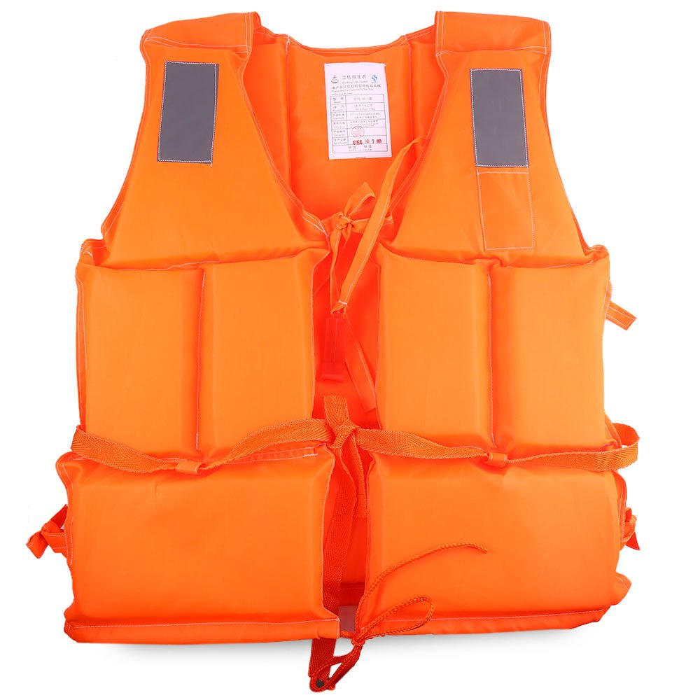 Professional Waterproof Life Vest Orange Adult Jacket Drifting Life Vest with Whistle for Boat Surfing with Reflective Strips(China (Mainland))