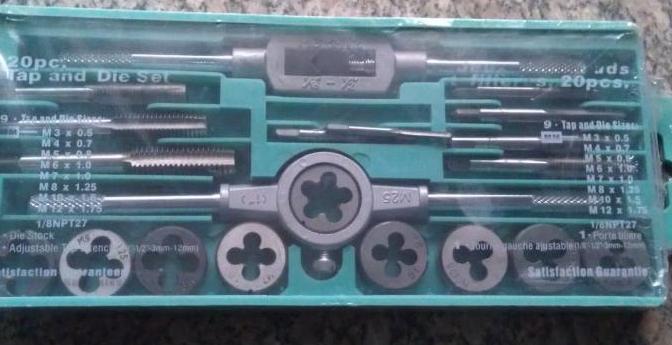 Tap die Set 20 sets of tap wrench tap die Set 20 Taps Dies