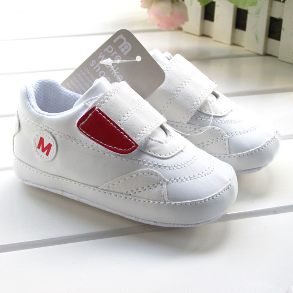 2014 Best Quality Spring Autumn British style Luxury White PU Uppers Soft bottom Slip-Resistant Unisex Baby First Walkers Shoes(China (Mainland))