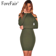 Buy ForeFair Autumn Winter Sexy Shoulder Club Party Dresses 2016 Women Long Sleeve Cotton Elastic Casual Bodycon Dress for $8.93 in AliExpress store