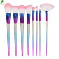 New maquiagem Pro 8pcs 10pcs makeup brushes set Colorful Frosted Glitter Foundation Powder Lip Eyeshadow Blusher
