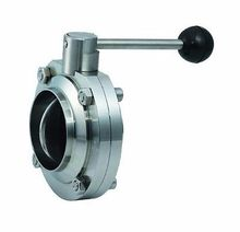 """2"""" 51mm SS304 Stainless Steel Sanitary Weld Butterfly Valve Brew Beer Dairy Product(China (Mainland))"""