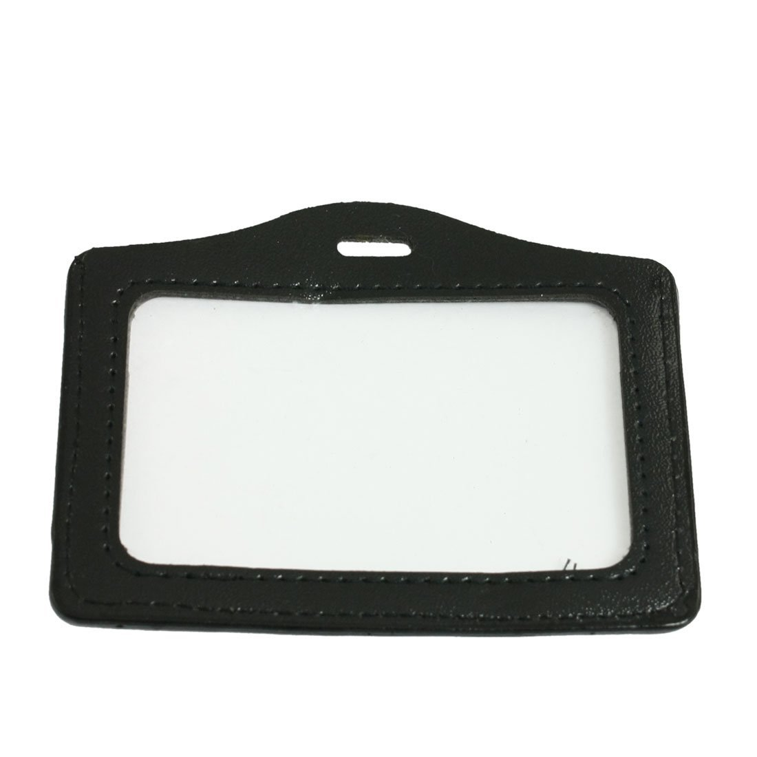 TEXU 5 Pcs Black Clear Faux Leather Business ID Card Badge Holder(China (Mainland))