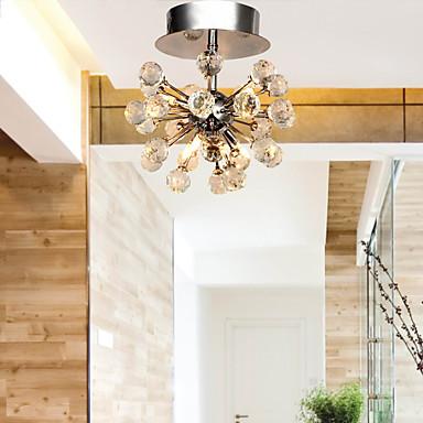 flush mount modern crystal ceiling lamp for living room lights cristal led ceiling light plafon lustres