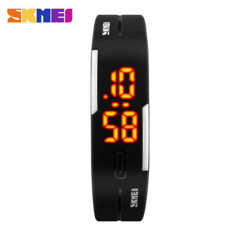 2016 New Famous SKMEI Brand Simple Watch Girl Jelly Silicone Digital LED Sports Bracelet Wrist Watch Fashion Women Men Watches(China (Mainland))
