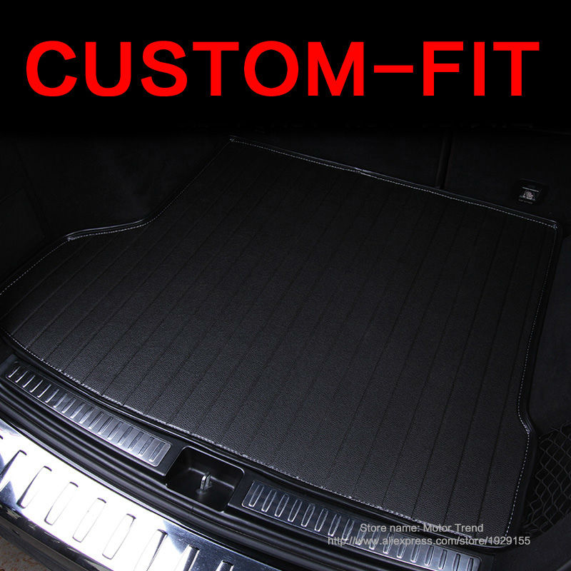 Custom fit car trunk mat for Cadillac ATS CTS XTS SRX Escalade 3D car-styling all weather tray carpet cargo liner <br><br>Aliexpress