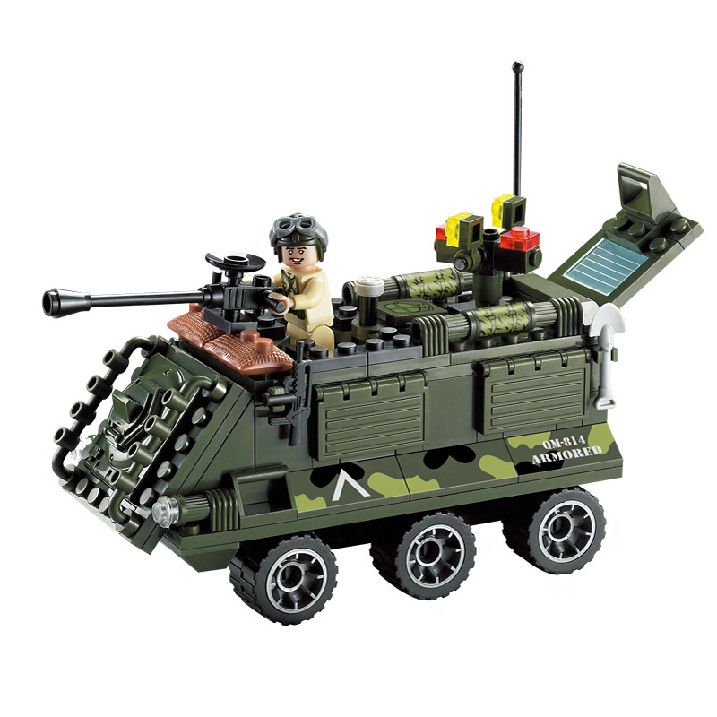 167pcs Enlighten City Military armored vehicle Building Block sets Kids Educational Bricks Minifigure Toys Compatible With legoe(China (Mainland))