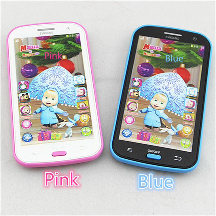 Newly Arrived Russian Language Children Mobile Toy Baby Phone Toy Talking And Masha Learning Machine education Electronic Toy(China (Mainland))