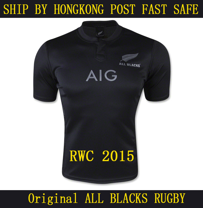 Original quality All Blacks New 2015 Season New Zealand All Blacks Rugby Jerseys Best Mens All Blacks Rugby Jersey shirts S-2XL(China (Mainland))