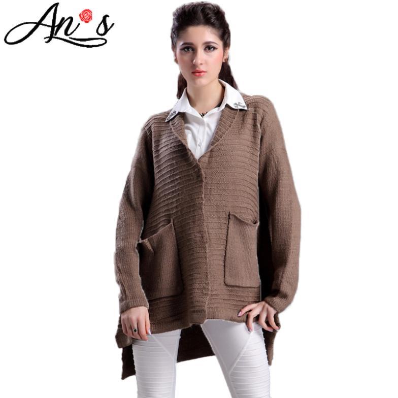 femmes longues gilets pull en cachemire hiver laine manteau long manteau plus la taille grande. Black Bedroom Furniture Sets. Home Design Ideas
