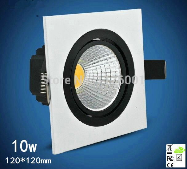 Free shipping 2pcs/lot 10w 120*120mm LED Downlight with 900 to 1000lm Luminous Flux, CE, SAA and TUV Marks<br><br>Aliexpress