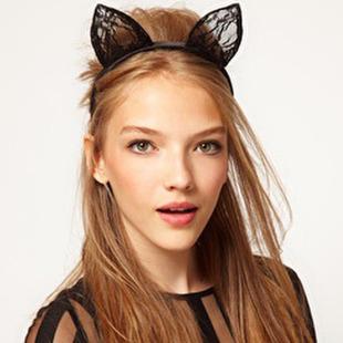 Обруч с ушками кошки своими руками