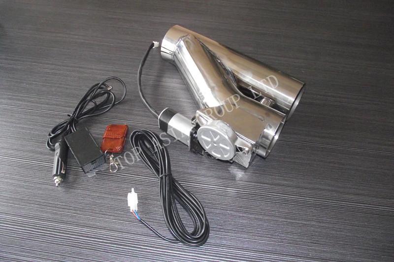 "Фотография Universal 2.5"" Electric EXhaust Y-Pipe Cutout Valve remote"
