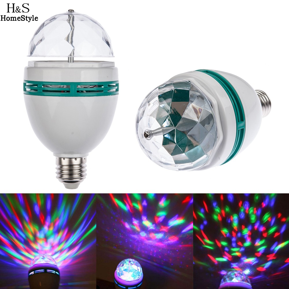 Hot Sale!!! E27 3W Colorful Auto Rotating RGB LED Bulb Stage Light Party Lamp Disco<br><br>Aliexpress