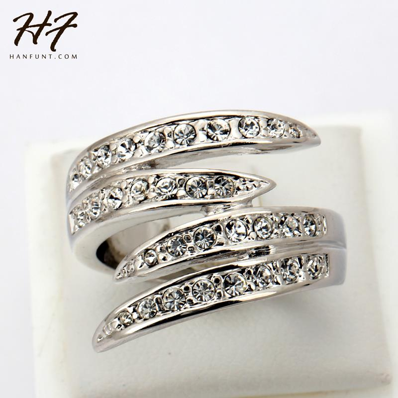 Top Quality R114 Life Together Crystal Ring 18K White Gold Plated Austrian Crystals Full Sizes Wholesale(China (Mainland))