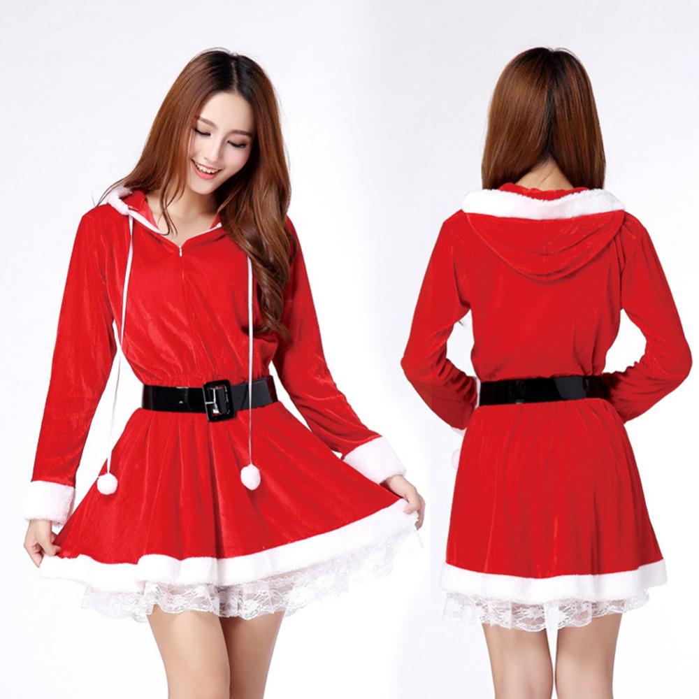 Aliexpress.com Comprar Navidad roja de navidad para mujer chicas Jeans Loose cuello redondo Mini vestido fiesta vestido con la correa libre envío gratis de