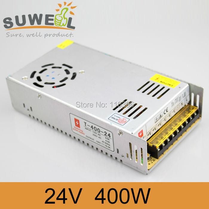 input ac 110v 220v to dc 24v led switching power supply,output 400w power supply 24v led lights(China (Mainland))