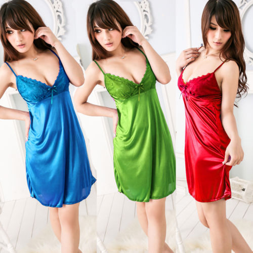 Гаджет  Details about Sexy Babydoll Lingerie Underwear Sleepwear Night-Robe Gown Dress Pajams 6 Color None Одежда и аксессуары