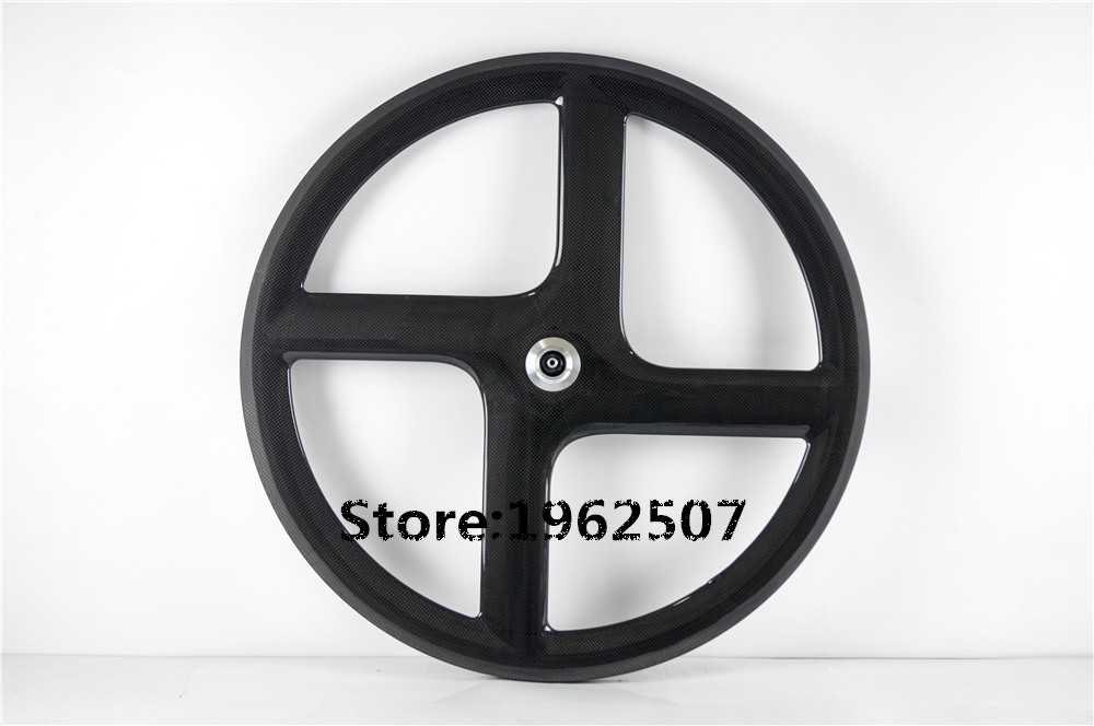 Newest 700C Carbon 4 spoke wheel high performance clincher bicycle wheelset 3k carbon four spoke wheel with NOVATEC(China (Mainland))