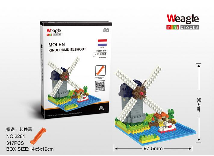 Wholesale LOZ Diamond Blocks Architecture Series Windmill Assembling Building Toys DIY Educational Kids Gifts Children Toys<br><br>Aliexpress