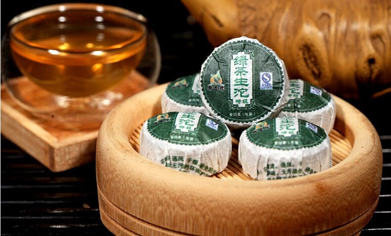 30pcs green tea shen puer Chinese yunnan puer tea puer ripe pu er tea bag gift