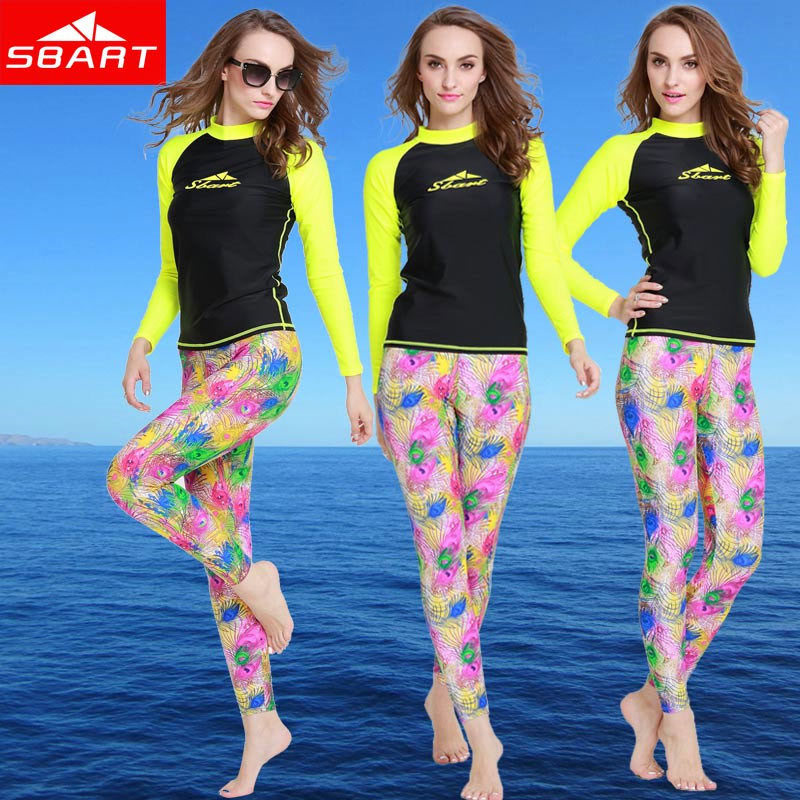 SBART Women Rash Guard Swimwear Long Sleeve Swimsuit Womens Rashguard Swim Shirts Lycra Surf Swimming Shirt Upf 50+ UV New Hot J(China (Mainland))