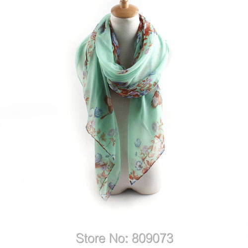 2015New Arrivals Flowers Print Scarf Long Shawl Cotton Voile Tippet Muffler New Design Pashmina Scarves Women - Shenzhen Sundah Tech Co., Ltd.(Craft & Gift Dept. store)