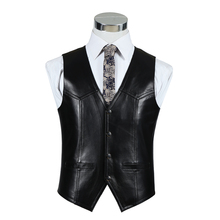 The new autumn and winter 2016 men's first layer of leather sheepskin vest sheep Pima folder(China (Mainland))