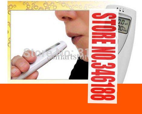 Best 50pcs/lot # Mini LCD Single-Screen Breath Tester Alcohol Tester Breathalyzer Digital Analyzer FedEx Free Shipping(China (Mainland))