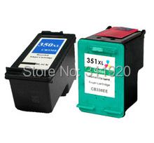 2pcs For HP 350 351 350xl 351xl Ink Cartridge for HP Photosmart C4480 C4580 C5280 C4599 C5200 C5240 C5250 C5270 C5275 Printer