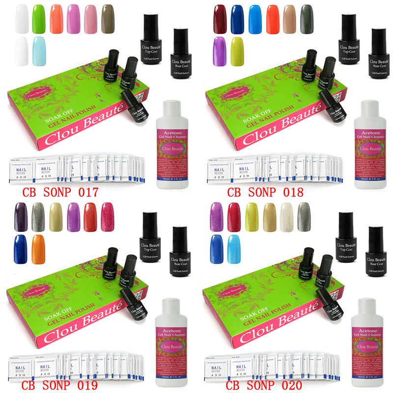 Clou Beaute Soak Off Gel Nail Polish Base Top Coat Acetone Gel Nail Cleanser Remover Wraps Urite Nail-094(SONP017-020)
