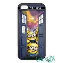 Fit for iphone 4 4s 5 5s 5c se 6 6s plus ipod touch 4/5/6 back skins cellphone case cover Tardis Doctor Despicable Me Minions