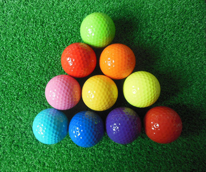 12pcs one dozen doWholesale blank assorted colored golf ball with seleeve box packaging(China (Mainland))