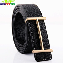 Buy Cinto 2017 New Brand Genuine Leather Men Belt Designer Luxury High H Smooth Buckle Mens Belts Women Jeans Cow Strap for $8.68 in AliExpress store