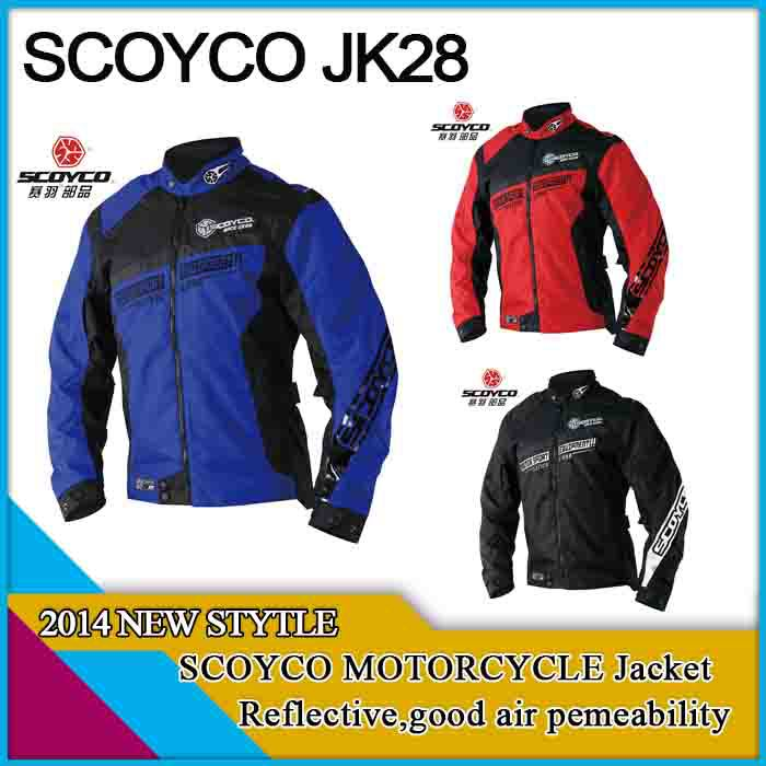 Freeshipping motorcycle jacket,scoyco jk28,three colors 4 sizes for option,XXL size,reflective material,good air premeability,<br><br>Aliexpress