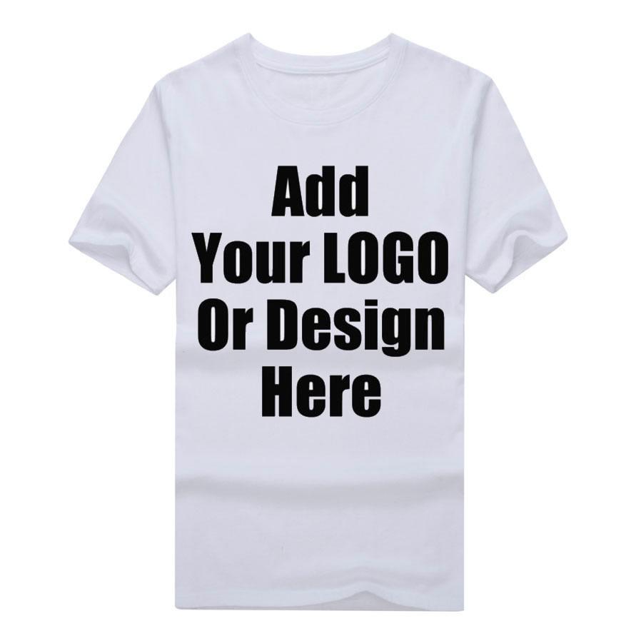 100% Cotton Custom Your Picture Or Blank Shirt Plain LOGO DIY T Shirt customized pattern print design t-shirts top tee(China (Mainland))