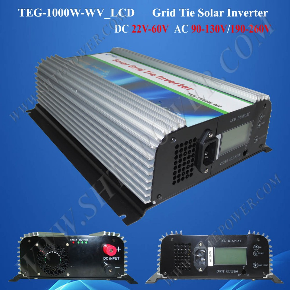 1000w on grid tie inverter for solar system 1000w solar micro inveter,1000w grid tie pv inverter(China (Mainland))