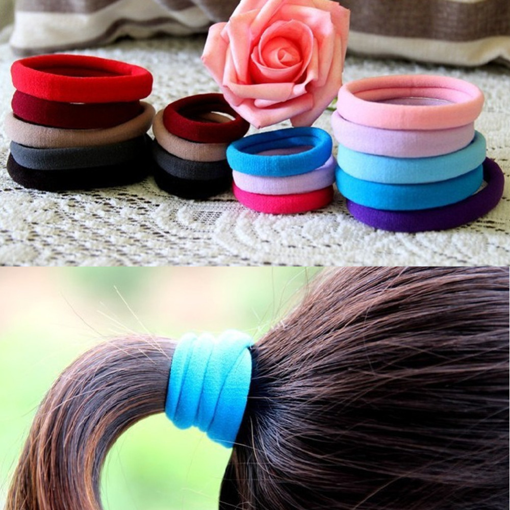1pc Candy Color Hair Holder Rubber Band Elastic Hair Bands Girl Tie Gum For Hair Accessories Women Headwear-0076(China (Mainland))
