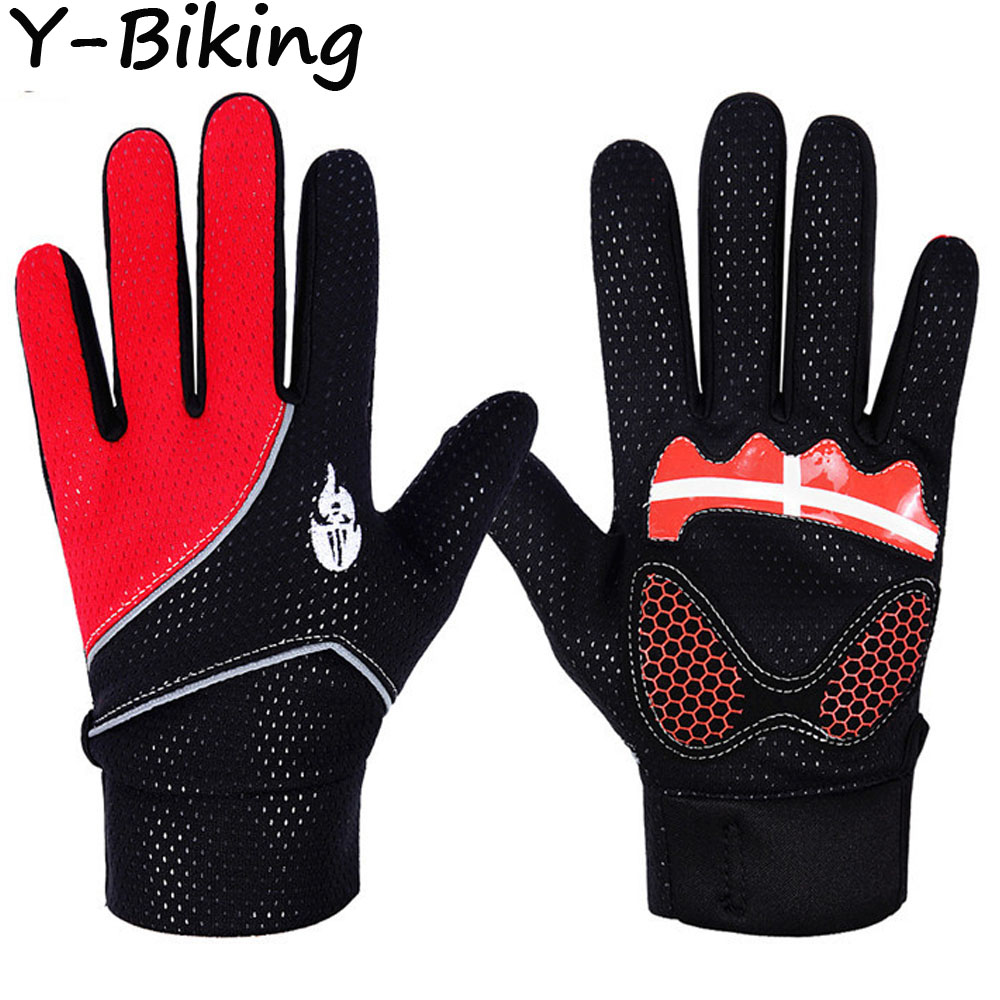 Women Men Mountain MTB Bicycle Bike Full Finger Padded Outdoor Sports Riding Cycling Gloves YB-WFD-28(China (Mainland))