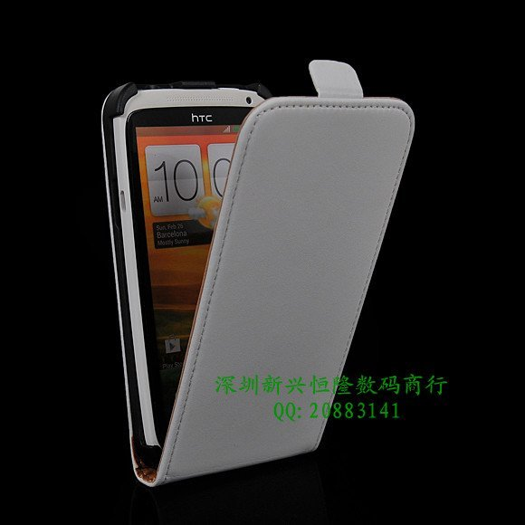Free Shipping High quality CowSkin  Black Leatger  Flip  Pouch Case  For  HTC one X  S720e
