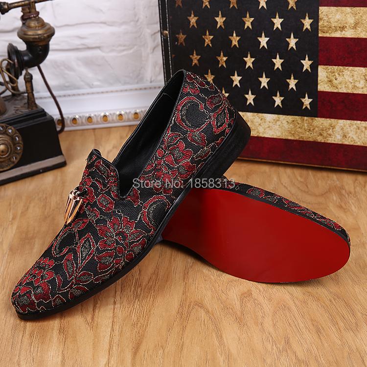 Aliexpress.com Comprar Nuevo 2016 moda para hombre pisos Classic zapatillas hombres holgazanes zapatos de vestir de marca azul / verde / rojo tamaño de los