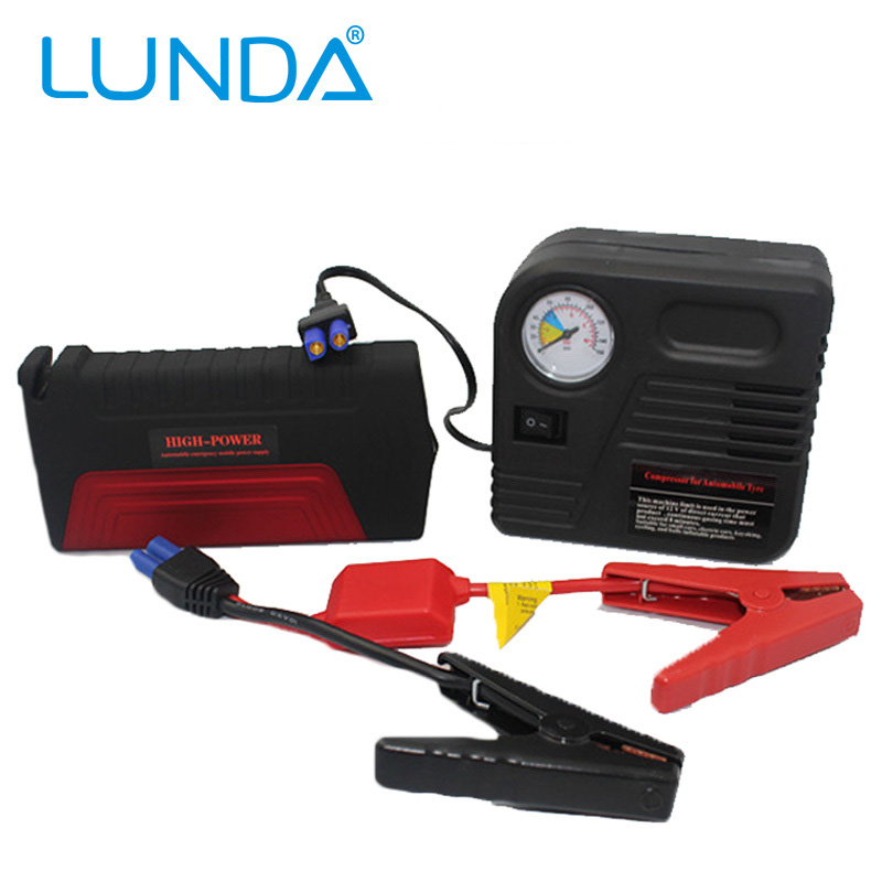 50800mAh LUNDA car jump starter auto emergency start with 3 lamp lighting 12V power bank for vehicle motorcycle storage battery(China (Mainland))