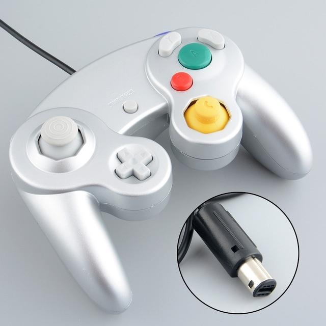 Hot Classic Wired Controller Joypad Gamepad Joystick Handheld For Nintendo Wii GameCube GC NGC Platinum Silver(China (Mainland))