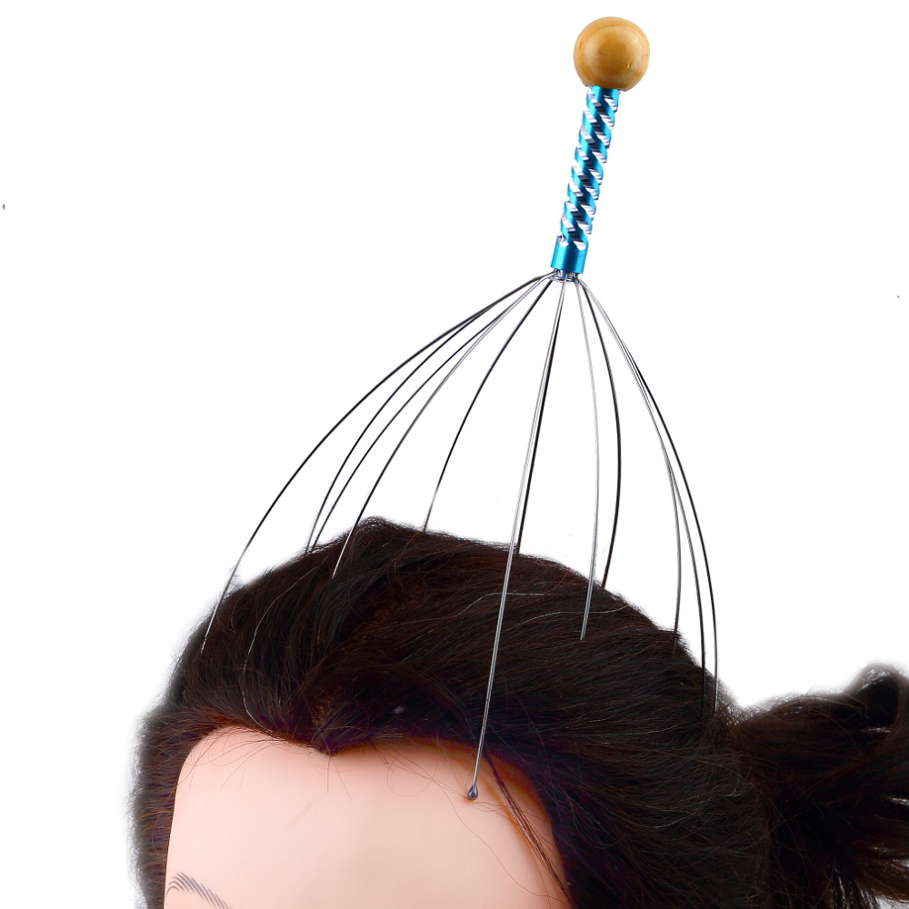 Hot Selling 1pc free shipping Octopus Head Scalp Neck Equipment Stress Release Relax Massage Claw Massager(China (Mainland))